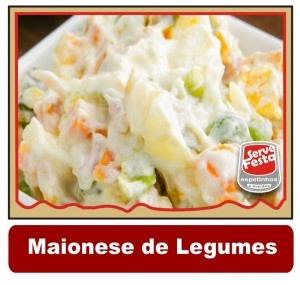 MAIONESE DE LEGUMES