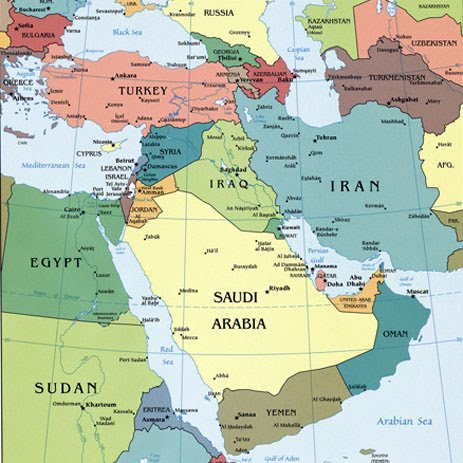 geographical map of asia World Geography : Southwest Asia Information   Once a SocSci