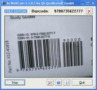 bcWebCam - Barcode Reader that uses your Web Cam