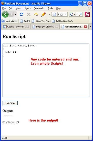 Evaluating/Executing PHP Code at Run-Time Using eval() Function