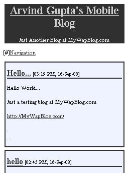 MyWapBlog.com - User Blog