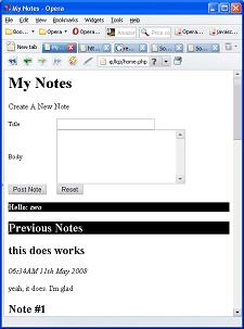 Designing a Simple Online Note Keeping Web Site