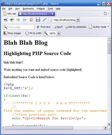 PHP Source Code Highlighting  - Using highlight_file() Function
