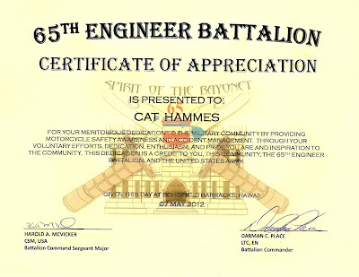 AN HONOR You Rock 65th Engineer Battalion