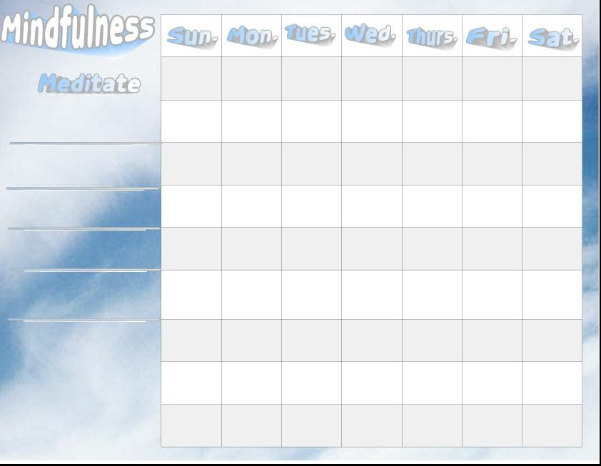 Mindfulness Activities Daily Checklist  One Page Perspectives