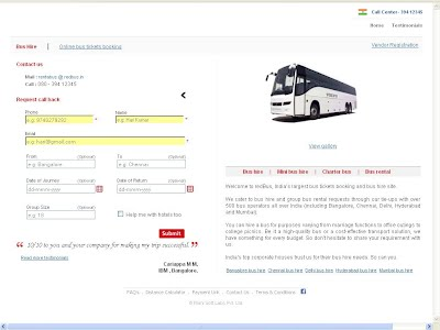 TICKET BOOKING SYSTEM- BUS BOOKING PAGE