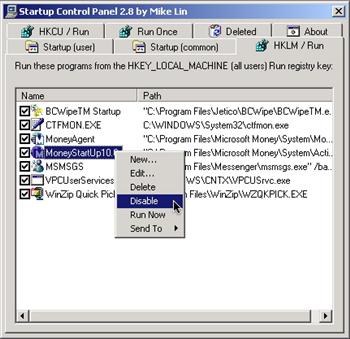 Startup Control Panel 2.8