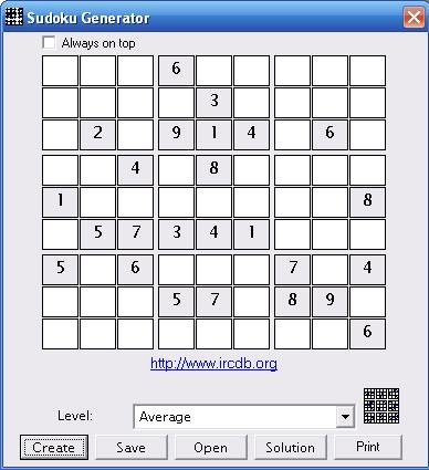 Free Sudoku Generator