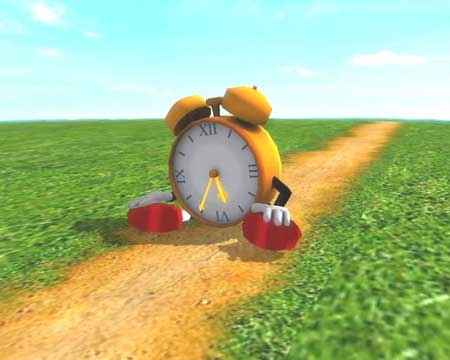 Free Running Clock 3D Screensaver
