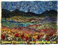 One Of Canada S Well Known And Respected Rugs Primitive Style Is Deanne Fitzpatrick Her Studio In Amherst Nova Scotia Where She Glorious