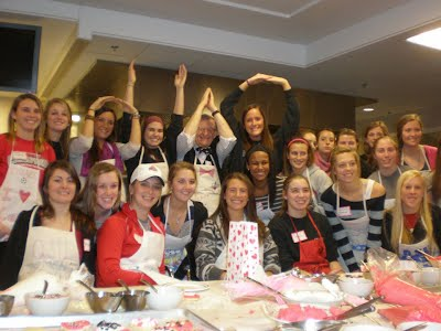 Winter 2012- Valentines Day Baking with President Gee