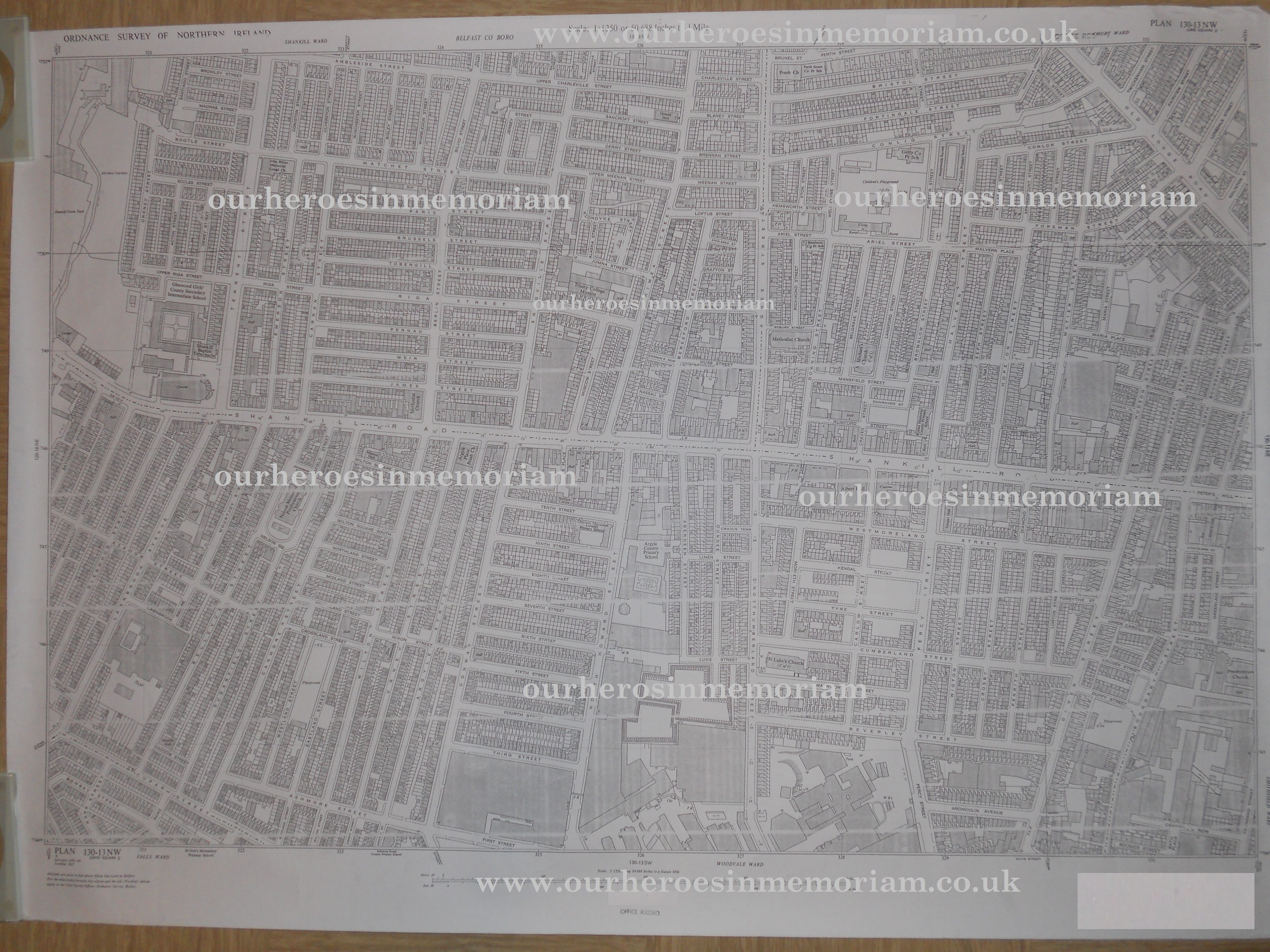 Map Of Belfast 1960 Belfast Street Map (Click on image to view  Map Of Belfast