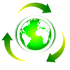 recycle x planet logo