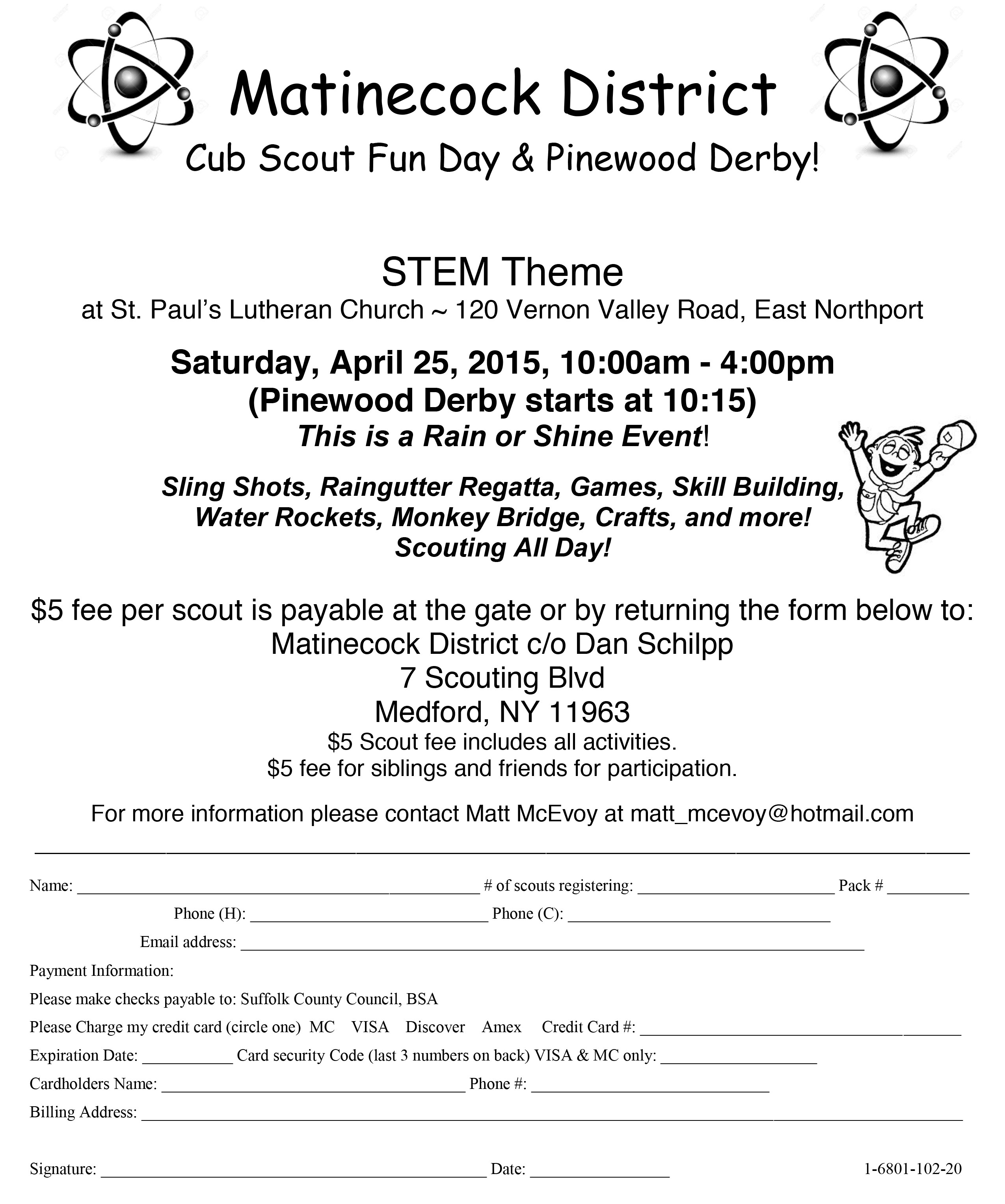 Cub Scout Fun Day & Pinewood Derby - Cub Scout Pack 66 South ...