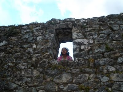 A photo taken (by Jason VanDenEng) of me at an Incan site in Peru.