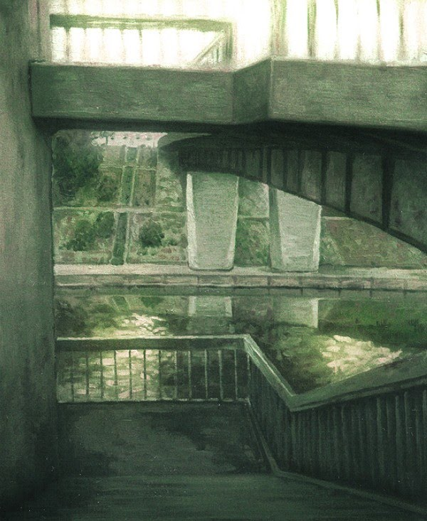 drawing walkway overpass