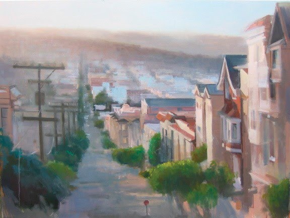 painting city on hill