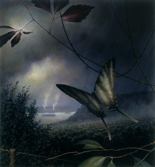butterfly painting by artist rob evans