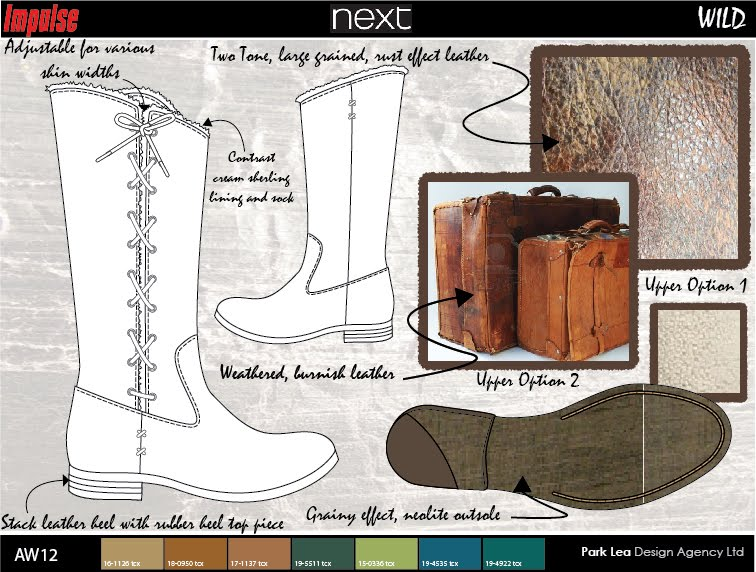 AW 12 Ladies Boot Direction for 'Next'
