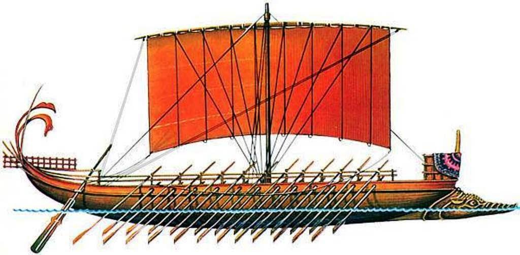 Древнегреческие торговые галеры