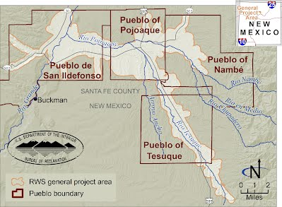 Pueblos New Mexico Map.Pojoaque Basin Regional Water System Eis