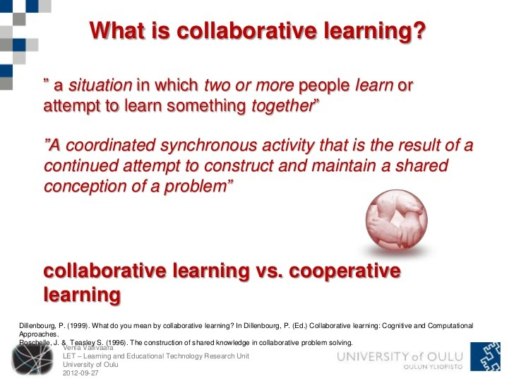Collaborative Teaching Methods ~ Collaborative vs cooperative learning