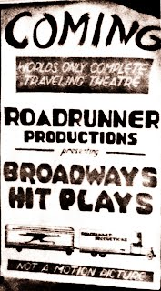 Roadrunner Productions Broadway Hit Plays Poster