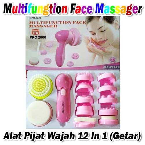 Multifuntion Face Massager (Alat Pijat Wajah 12 In 1 Getar)