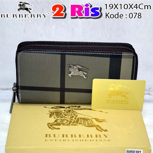 Dompet Burberry 2 Ris 078 Silver Grey