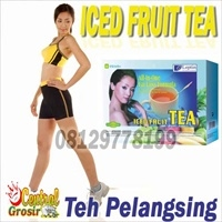 Iced Fruit Tea (Teh Pelangsing)