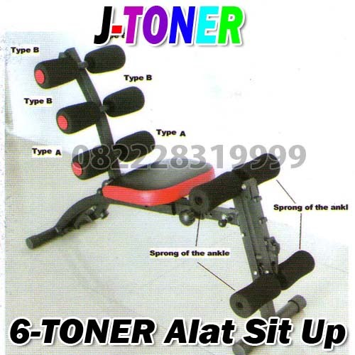 J-TONER (6-Toner) Alat Sit Up