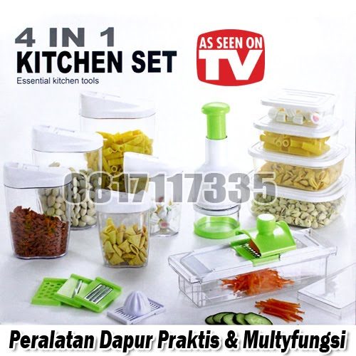 Kitchen Set 4 IN 1 (Peralatan Dapur Praktis & Multyfungsi)