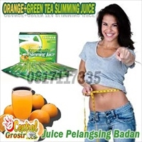 ORANGE + GREEN TEA SLIMMING JUICE (Juice Pelangsing Badan)