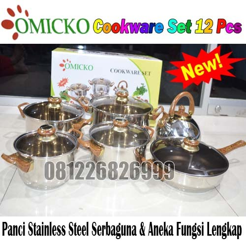 Omicko Cookware Set 12 pcs