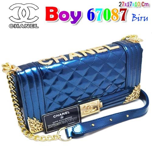 Tas Chanel Boy 67087 Biru