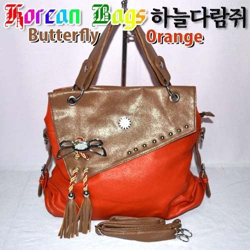 Tas Korea Bag Butterfly Orange