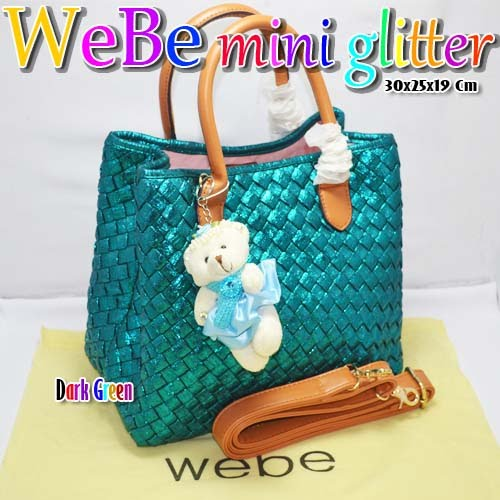 Tas Webe Mini Glitter Dark Green