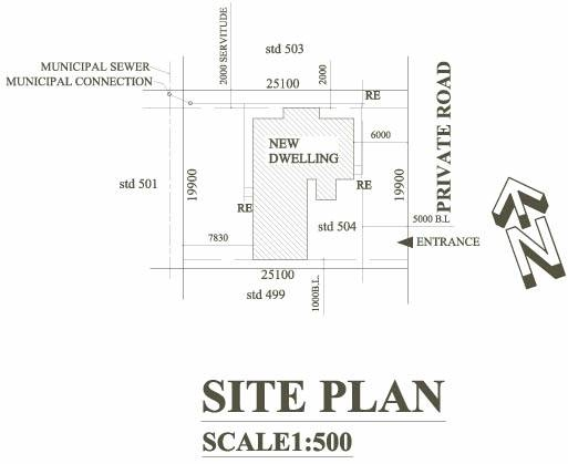how to draw a site plan to scale