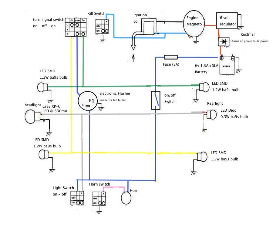 my led light system segolsson s home rh sites google com Farmall Cub 6 Volt Wiring 6 Volt Electronic Flasher Diagram