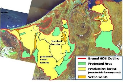 Brunei forest cover peter engbers brunei nature travel site according to the brunei fra report the authority on forests the primary forest cover is reducing a map derived from the brunei development plan and the gumiabroncs Choice Image