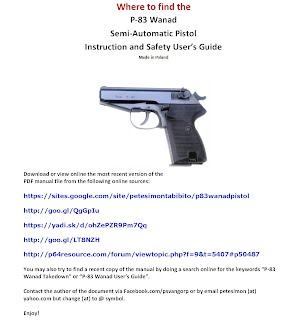 Where to find Polish P-83 Wanad Pistol User's Guide (manual)