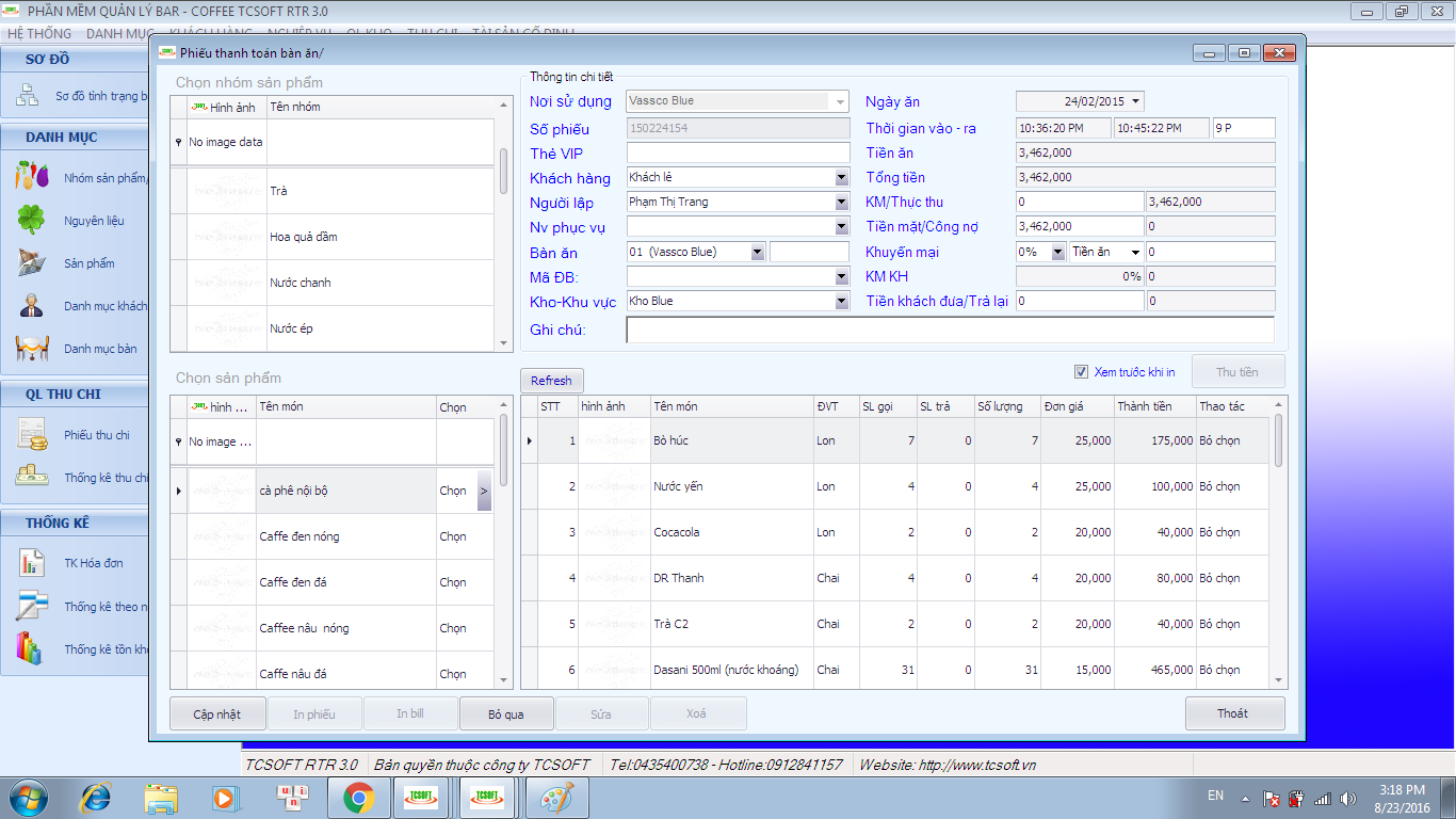 quan ly quan cafe