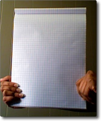 Typical office note book page layout