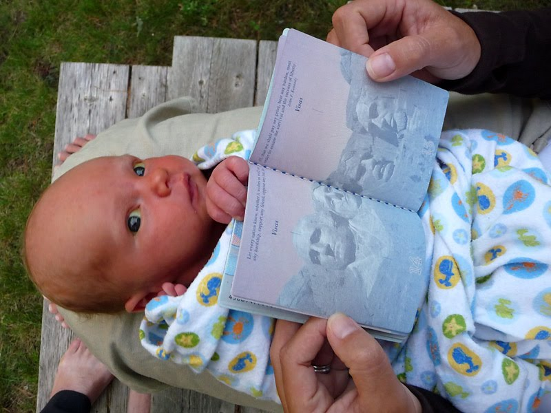 odin with his new passport phil philip bowen photo photographer