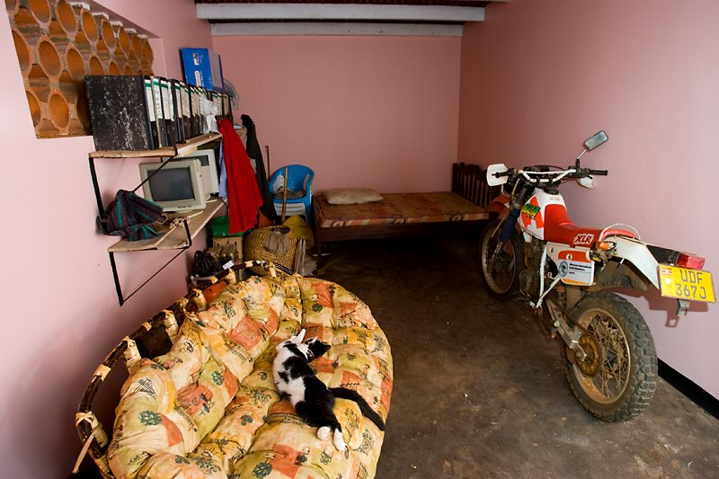 ttaano sleeps in the garage phil philip bowen photo photographer uganda