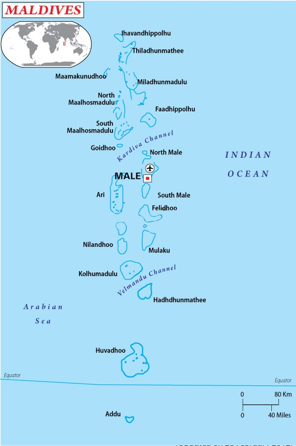 This Picture Shows Maldives On The Indian OceanImage Citation Map Geography Of Worldatlas
