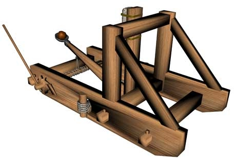 history of catapults When was the onager catapult invented who invented it how big was it can i make one learn about the onager and other catapults at mywizardscom.