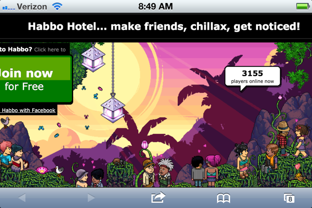 Habbo Hotel a website that allows children to design virtual hotels. It has  been found to host an abundance of graphic sexual chat between its users.