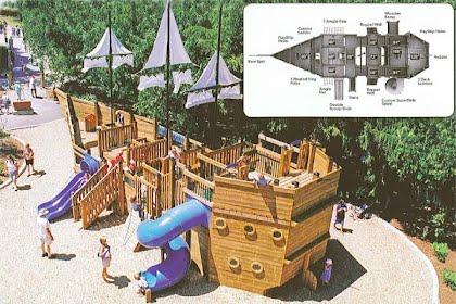 Pirate ship plans alburnett playground - Pirate ship wooden playground ...