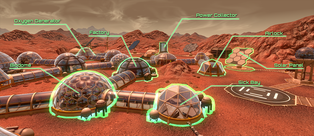 exterior structures planetbase